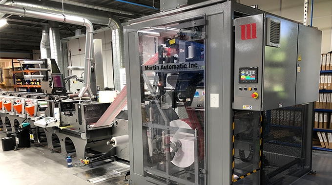 British flexible packaging and label converter ProPrint Group specializing in linerless applications has invested into Martin Automatic butt splicer and automatic transfer rewind