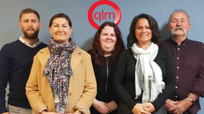 The team at the merged business (from left): Jesse Bullied, sales manager; Sandy Bullied, director; Taysha Hadley and Linda Noble, customer service; Dennis Bullied, director