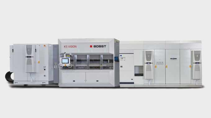 The Bobst K5 Vision has been designed to handle a wide variety of film types in particular thin gauge and heat sensitive films