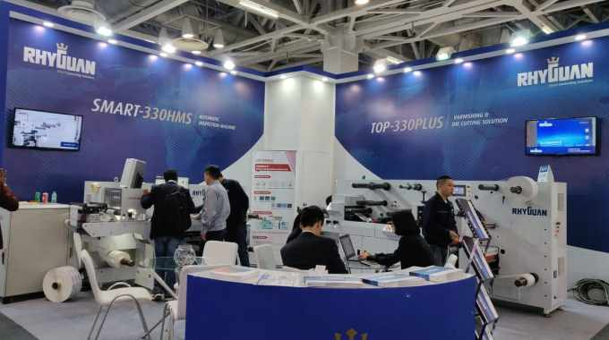 The Rhyguan stand at Labelexpo India 2018