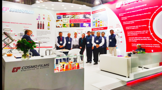 Cosmo Films team at their stand during Labelexpo Europe