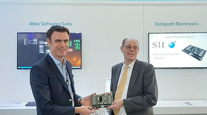 L-R: Nick Geddes, managing director of GIS and Frank Kühn, managing director of Seiko Instruments