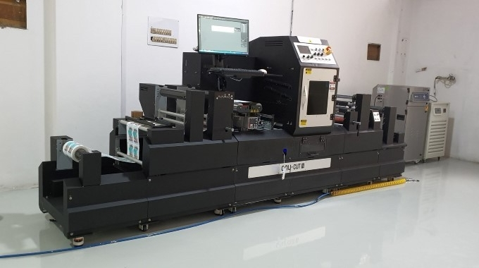 Anytron any-Cut III label finisher installed at Pragati Label's facility in Mumbai
