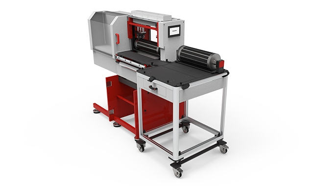 Tecnocut has launched a Pit Stop die-cutting unit featuring electronic variable adjustment E-Diffsystem to enable faster swapping of magnetic cylinders
