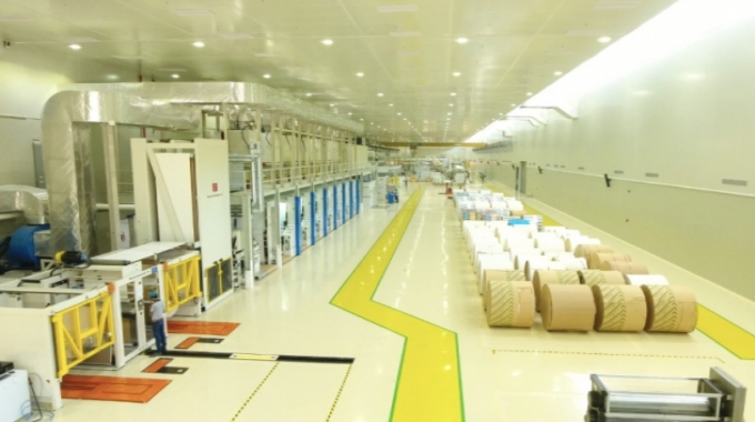 Printing line at Uflex aseptic liquid packaging plant in Sanand Gujarat