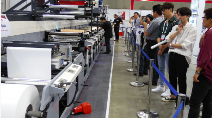 An MPS EF 530 drew lots of interest at K-Print 2018