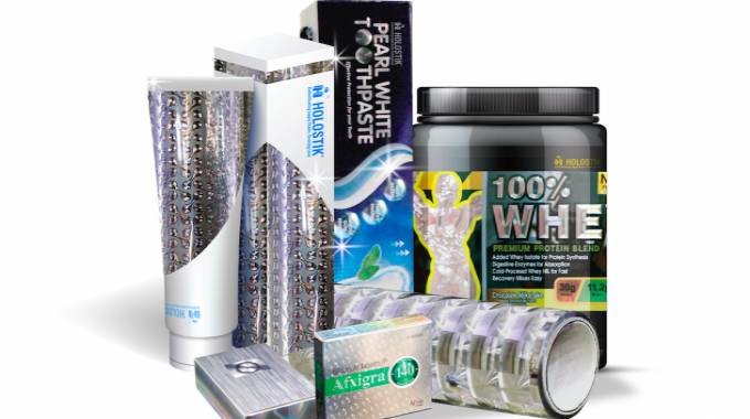UV embossed labels and pharma cartons