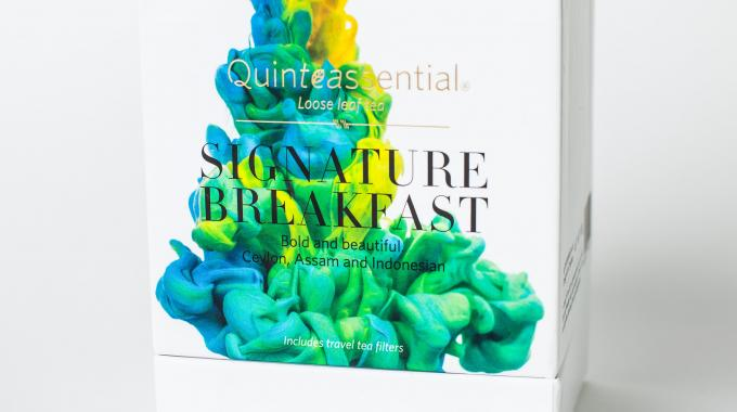 Each Quinteassential blend features a different work of art by artist Alberto Seveso that portrays the intensity of the flavors through vivid colors using an ink and water technique