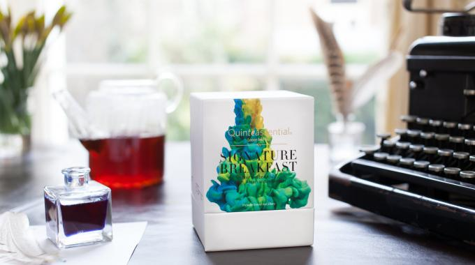 Thew packaging has been designed to present Quinteassential's 'The Art of Tea' concept