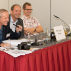 Pictured (from left): ERA secretary-general James Siever, Juergen Freier of HP and Dr Andreas Kraushaar of Fogra, speaking at the first ERA Digital Forum in 2017
