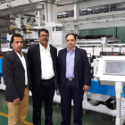 Gaurav Sachdev, vice president at Standard Printers Provider (extreme right) with Label Solutions in front of the Taiyo press installed at the factory