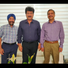 L to R: Harveer Sahni of Weldon Celloplast, LMAI president Kuldip Goel and treasurer Dinesh Mahajan discuss about the upcoming LMAI conference in July in Kochi