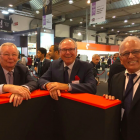 Taken at Labelexpo Europe 2017, this picture shows 150 years of industry experience: L&L founder Mike Fairley, Denny McGee and Dilip Shah, MPS Systems North America