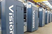 The web offset Vision press at Abaker was originally manufactured for the production of business forms