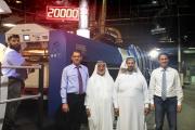 Pictured (from left): Abdalah Al-Hareri, general manager, Al Kharafi; Ahmad Al Khars, CEO, Al Jawad Group; Ehsan Al Khars, general manager, Al Jawad Carton; Noureddine Amalou, sales manager Koenig & Bauer