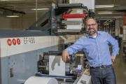 Hub Labels president Thomas Dahbura with the US-based printer's new MPS EF 430