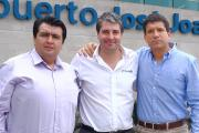 Pictured (from left): Alexander Piedra, Quimica Anders Ecuador; Nick Vindel, JM Heaford; Horst Eichhorn, Quimica Anders