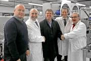 Pictured (from left): Andy Riggs, Label Express director; Maurizio Trecate, sales director, narrow and mid web multi-process printing and converting, Bobst Firenze; Mark Freestone, Label Express director; Giorgio Deliziosi, area sales manager, narrow and mid web multi-process printing and converting, Bobst Firenze; Keith Robson, managing director, Global Print Services