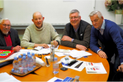 The judges were (L-R): Barry Hunt, representing Labels & Labeling; John Penhallow, a freelance writer living in Paris; Jean Poncet, editor in chief of Etiq & Pack; and Wolfgang Klos-Geiger, publisher of LabelPack