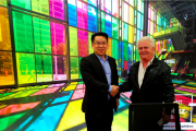Liu Haifeng with a North American client