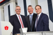 The management board of W&H as of April 1, 2019 include (L to R): Dr. Falco Paepenmüller, CTO; Peter Steinbeck, CSO; and Dr. Jürgen Vutz, CEO