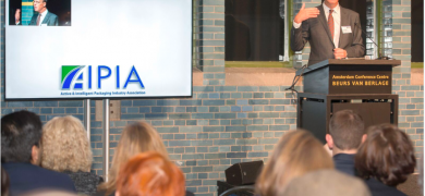 AIPIA executive director Eef de Ferrante opening the association's latest World Congress