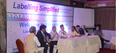 The panel discussion at the 'Labeling Simplified' seminar organized by Vinsak