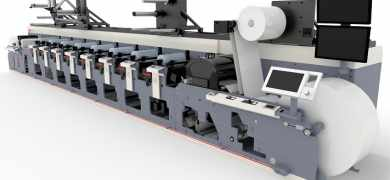 An MPS EF 430 UV flexo press features in the Automation Arena at Labelexpo Americas 2018