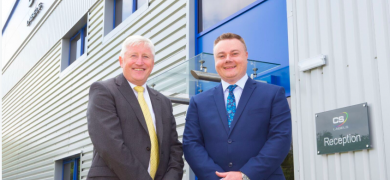 CS Labels managing director Simon Smith (left)and Adam James, the digital printer's operations director (right)