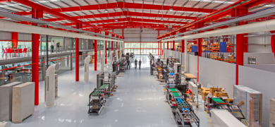 Production floor at Nilpeter India