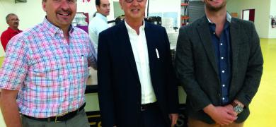 Visiting South Africa was K+B's TecScreen product manager, John Fehrenbacher