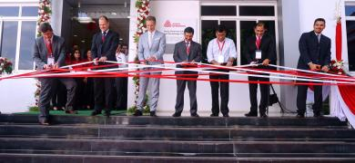 L to R Roland Simon; Darren Milligan; Georges Gravanis; Pankaj Bhardwaj; Sailesh Kapur; Anil Sharma; and Hassan Husein Rmaile from Avery Dennison inaugurating the new ADIKC in Pune