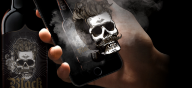 In the Black Beer project, Black – the skull character from the label – comes to life and 'chats' with the drinker using a mobile app