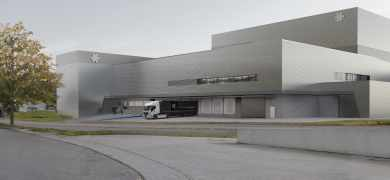 A visualization of the new Herma coating plant for self-adhesive materials