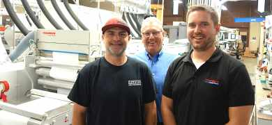 LTI's Jim Baker (left) with Donnie Hopkins of JDH and Vetaphone's Ted Wolski