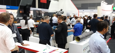 The Nilpeter stand at Labelexpo Southeast Asia 2018