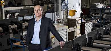 Wim van den Bosch, MPS Systems CEO - picture credit: Ingmar Timmer