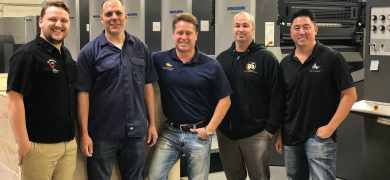 All American Label and Packaging employees with the Speedmaster CD 102