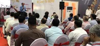 Anil Sharma addressing customers