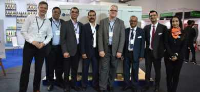Domino and Multitech teams during the partnership announcement at Labelexpo India 2018