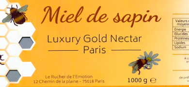 Food: 'Miel de Sapin', a honey jar label Neo-Color
