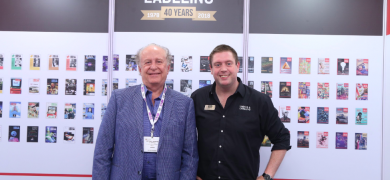 L-R: Jeffrey Arippol, chairman of Novelprint, and James Quirk, editor of L&L