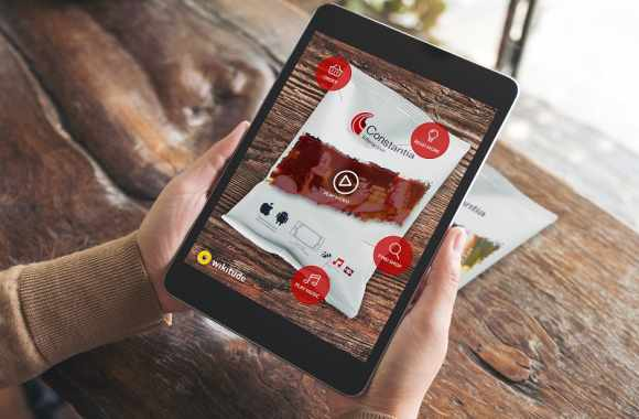 Using Wikitude's AR software, smartphones can recognize a variety of shapes and packaging