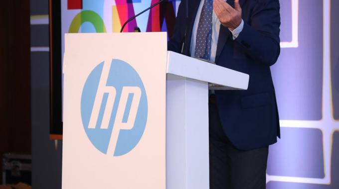 François Martin, global marketing director, Graphic Solution Business, HP at the event in Delhi