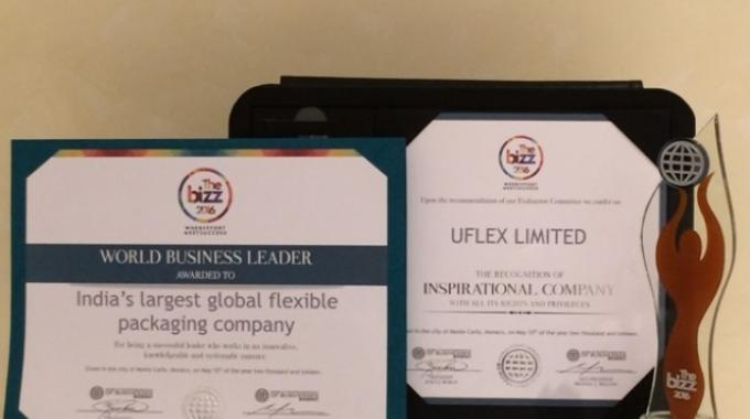 Uflex honored by World Confederation of Businesses