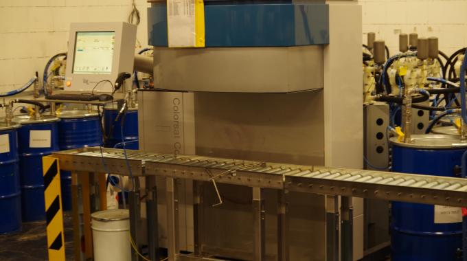GSE Dispensing's Colorsat® Compact installed at ACW-Film