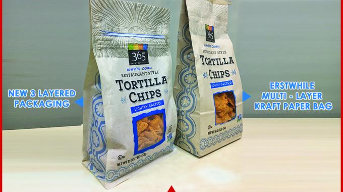 Uflex designs tortilla chips packaging for Whole Foods