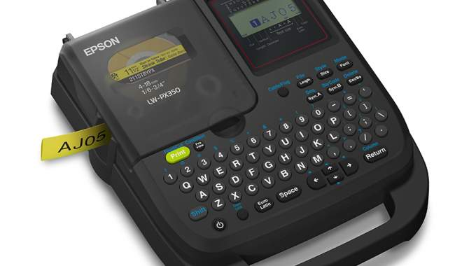 LW-PX350 is a portable label maker for wire marking, barcode labels and general identification