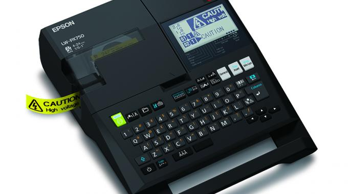 LW-PX750 is a portable and PC-connectible industrial label printer for barcodes and facility identification labels up to 1in wide