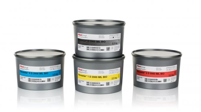 Novastar D 2000 IML Bio is a mineral oil free, low migration sheet-fed ink for label printing without direct food contact